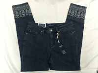 Charter Club Womens Embroidered Dark Wash Bristol Skinny Ankle Jeans Size 4 NWT