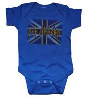 New Def Leppard Union Jack Baby Romper One Piece Shirt 6-18 Months badhabitmerch