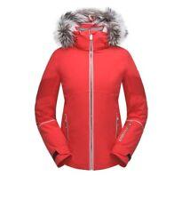 c110c38058882 Spyder Diabla Real Fur Ski Snowboard Jacket 182704 Color Hibiscus Silver  Size 4