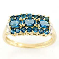 Topaz Wedding Cluster Fine Rings