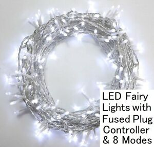 Plug in Fairy Lights Mains Powered Outdoor Party String Lights LED 10-50M, White