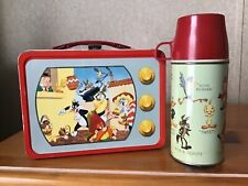 Vintage Looney Tunes Tv Lunchbox And Thermos