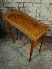 Antique Vintage French Wooden Folding Bagatelle Pinball Game Toy