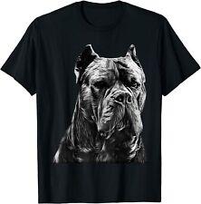 Italian Mastiff Head Cane Corso Dog T-Shirt Black S-5Xl