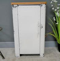 Industrial Cabinet 1 Door Locker Storage Unit Metal Bedside Table With Shelves