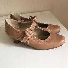 Hotter Charleston Kitten Heel Caramel Leather Shoes UK5.5 Comfort Concept SB42