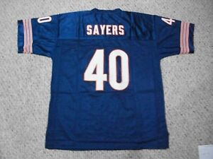 GALE SAYERS Unsigned Custom Chicago Blue Sewn New Football Jersey Sizes S-3XL