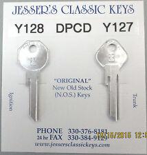 DPCD Y128 Y127 PLYMOUTH  NOS Aluminum Keys 1938 1939 1940 1941 1942