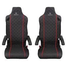 Renault T ,Renaul C Truck Seat Covers RED piping 2 piece (1+1)
