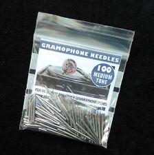 British-made Gramophone Needles Medium Tone Packs of 100
