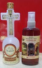 Anointing oil Myrrh and Holy Water cross bottle from blessed Jordan river