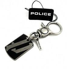 POLICE Schlüsselanhänger P ACTION PJ22041KSB-02  Edelstahl schwarz >> NEU
