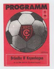 Orig.PRG   IFC / Intertoto Cup  1988  HALLESCHER FC CHEMIE - BRÖNDBY IF ! SELTEN