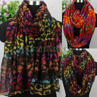 Animal Leopard Print Long Scarf/Infinity Scarf Snood Womens Scarf Ladies Scarf