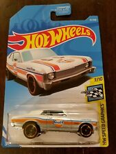 Hot Wheels 2019 '68 Chevy Nova Gulf White HW Speed Graphics *PAINT ERROR* *NEW*