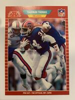 THURMAN THOMAS 1989 Pro Set Football Rookie #32 Buffalo Bills RC SHARP