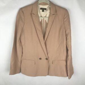 Ann Taylor Sz Small Tan One Button Blazer Jacket