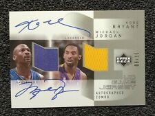 2003 Michael Jordan, Kobe Bryant Dual Autograph Card. Novelty Card. Mint...
