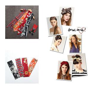 AMIGO Multi-Use Silk Scarf Twilly Wrist Head Band Bag Ribbon Bow Tie Wrap JJB