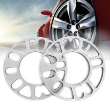 2pcs 8mm Universal Alloy Aluminum Wheel Spacers Shims Set Multi-Fit For 4/5 Stud