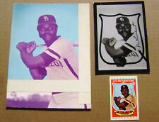 1973 Nate Colbert San Diego Padres Kelloggs  Autographed Proof - RARE