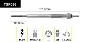 Tridon Glow Plug TGP096 fits Isuzu D-Max 3.0 D, 3.0 D (RA,RC), 3.0 D 4x4, 3.0...