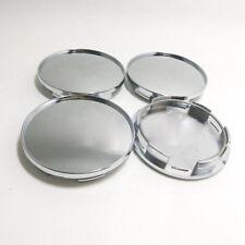 4Pcs/Set Universal 68mm Chrome Silver Car Wheel Center Hub Caps Covers No Logo