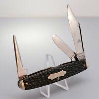 Vintage Kent New York City USA Rough Black Celluloid 3 Blade Cattle Pocket Knife