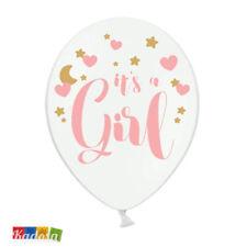 6pz Palloncini It's a Girl Bianco e Rosa Bimba Baby shower Party Nascita bambina