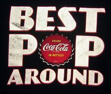 COCA-COLA tee 2XL best soda pop Coke bottle cap logo T shirt retro Father's Day