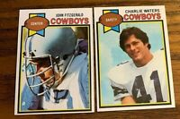 1979 Topps #213 John Fitzgerald and #445 Charlie Waters - Cowboys