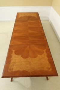 L31840EC: BAKER Inlaid Top Carved French Style Dining Room Table