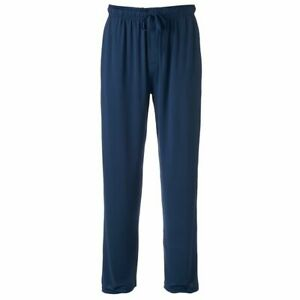 IZOD Advantage Sleepwear Pants Mens Small Authentic Stretch Quick Dry Navy Blue