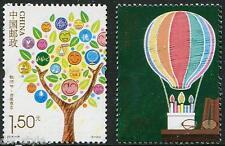 Teachers Day set of 2 stamps mnh China  2014-19