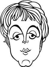"""The Beatles Paul McCartney Music Bumper Sticker 4"""" x 5"""""""
