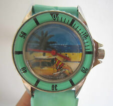 Limited Edition Manual Winding Wrist Watch Sailing Boat Mystery Hand, Go Round
