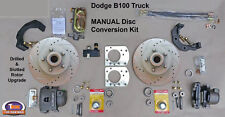 "1949-1953 DODGE B100 FRONT MANUAL DISC BRAKE KIT - 11.75"" Drilled & Slotted"