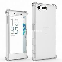 Shockproof Hybrid Clear TPU Soft Silicone Back Case Cover For Sony Xperia Phone