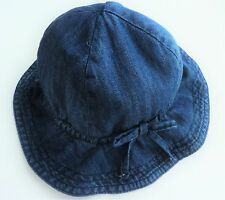9cfd9ba16c2 Baby GAP Toddler Girls Mid BLUE Denim Soft Bow Floppy Sun Hat 0-24m
