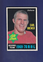 Carl Brewer AS 1970-71 O-PEE-CHEE Hockey #243 (VGEX) Detroit Red Wings