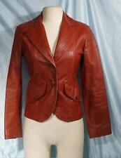 Very Nice Reddish Brown SPLIT END LTD Leather Blazer Sz 7/8