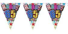 Simon Elvin Party Bunting - 65th Happy Birthday Unisex Design Male or Female
