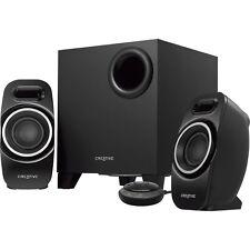 Creative T3250 2.1 Speaker System - Desktop - Wireless Speaker[s] - Black -