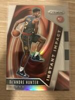 2019-20 Panini Prizm Instant Impact SILVER #4 De'Andre Hunter Rookie Ships Free