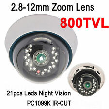 CMOS 960H 2.8-12mm Zoom IR lens Indoor Dome Camera 800TVL 21pcs 20m CCTV SYSTEM