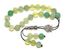 0009 Loose Strung Greek Komboloi Prayer Beads  21 x 10mm - Green Agate Gemstone