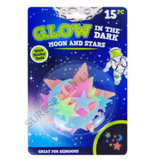 Glow In The Dark Stars & Moon Star Plastic Stickers Ceiling Wall Kids Bedroom