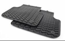 2015-18 Audi Q7 Factory Sealed All Season Rubber Floor Mats 2 REAR SITS Black