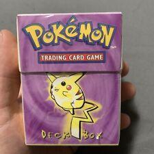 1999 Pokemon WOTC Pikachu Deck Box SEALED
