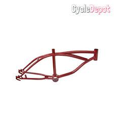 "Lowrider Bike Steel 16"" Lowrider Frame Metallic/Red Beach Cruiser Chopper"